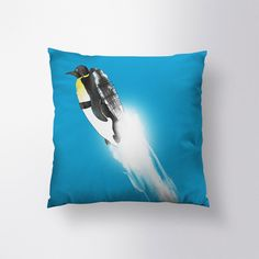 WIngless Migration Pillow // Spun Polyester Throw Pillow Case, Cover, With or Without Insert - Made in USA by sharpshirter on Etsy https://www.etsy.com/listing/207516459/wingless-migration-pillow-spun-polyester