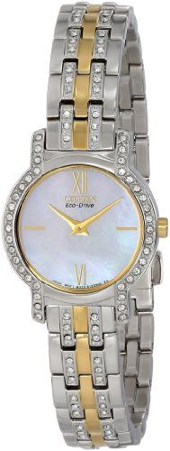 Women's Wrist Watches - Citizen Womens EX124451D EcoDrive Watch with Swarovski Crystals *** Check out this great product. (This is an Amazon affiliate link)