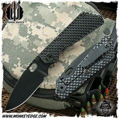 Strider Knives Folder: SNG Gunner Grip - Cerakote Black