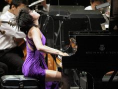 Yuja Wang piano soloist with LA Phil conducted by Gustavo Dudamel in. Anatole France, Hollywood, Opera Singers, Her Music, Classical Music, California, Culture, Entertaining, Concert