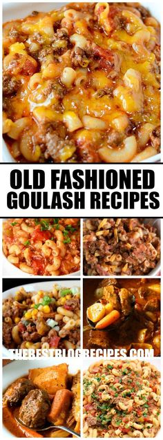 This Old Fashioned Goulash is one of those comfort food meals that everyone always loves because it's beefy, cheesy and filled with pasta goodness! via @bestblogrecipes