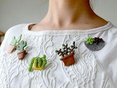broches cactus fimo Plus
