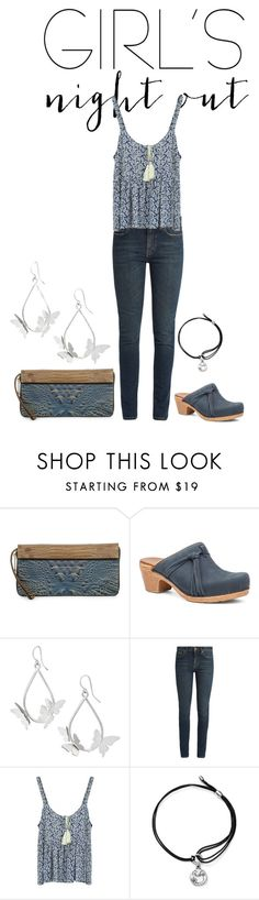 """night"" by kim-coffey-harlow ❤ liked on Polyvore featuring Brahmin, Dansko, Yves Saint Laurent, Alex and Ani and girlsnightout"
