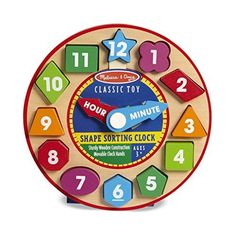This preschool-friendly clock features color-coded minute and hour hands that spin around with a simple push . . . but no matter where they point it's always time for learning and fun! Kids can match...