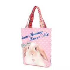 Some bunny loves you! so let the world know  Get this adorable #tote for you or your #bestie @claires #meadowbrookmall