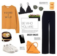 """Young N' Wild"" by makeupgoddess ❤ liked on Polyvore featuring Campania International, Zimmermann, MANGO, adidas, Balenciaga, Monki, Ladurée and Ray-Ban"