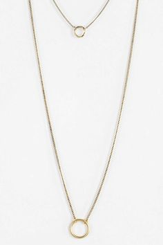 Circles High/Low Necklace - Urban Outfitters