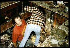 """"""" A volunteer recoils in horror as he aids police in unearthing bodies from the basement of John Wayne Gacy. The Killer Clown encased dozens of corpses in his crawlspace, often with. John Wayne Gacy, Horrible Histories, Crime Books, Criminology, Cold Case, Criminal Minds, Serial Killers, True Crime, Investigations"""