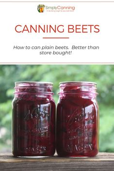 Canning Beets – Plain beets for the dinner table. Step by step guide! Canned Beets – Get inspir Canning Beets, Canning Vegetables, Water Bath Canning, Canning Tips, Home Canning, Canning Recipes, Veggies, Canning Potatoes, Amigurumi