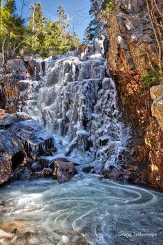 Hadlock Stream Falls, Acadia National Park, Bar Harbor, Maine (photo: Gregg Tehennepe) Camping & Hiking - http://amzn.to/2kHrMBb