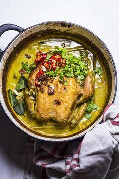 roast chicken in coconut milk