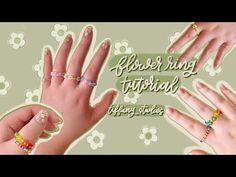 Seed Bead Flowers, Diy Flowers, Seed Beads, Make Your Own Jewelry, Jewelry Making, Diy Rings Tutorial, Chloe Jewelry, Diy Air Dry Clay, Beaded Rings