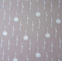 Grey floral -233Fabrics