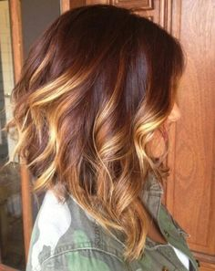 Burgundy and blonde ombre