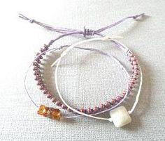 Adjustable bracelets/friendship bracelets/purple by PepperandPomme, $15.00