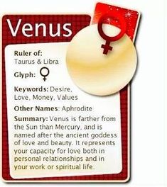 #Astrology #Zodiac #Planets #Venus For more Zodiac related posts, please check out my FB page:  https://www.facebook.com/TheZodiacZone