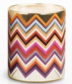 Scented candle zigzag motif.... MissoniHome