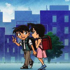 Kudo Shinichi Mouri Ran Magic Kaito, Ran And Shinichi, Kudo Shinichi, Conan Movie, Detektif Conan, Anime Couples Drawings, Couple Drawings, Anime Coffee, Otaku