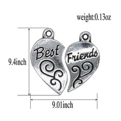 Silver Engraved Stainless Steel Best Friend Love Pendant Necklace Jewelry Set 24 *** See this terrific product. (This is an affiliate link ). Best Friend Love, Best Friends, Jewelry Sets, Jewelry Necklaces, Best Friend Jewelry, Stainless Steel, Pendant Necklace, Link, Silver