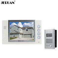 JERUAN 8 inch video door phone doorbell Record intercom system video recording photo taking 700TVL COMS camera free shipping