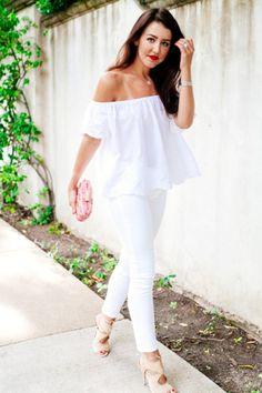 All white and flowy plus loving those Aquazurra sandals