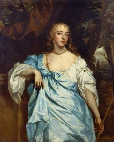Mary Bagot, Countess of Falmouth and Dorset (1645-79) ~ one of the Windsor Beauties collection of portraits assembled by Lady Anne Hyde for her husband, James II