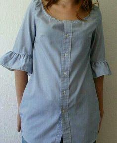 Button up shirt refashion idea