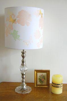 "Laura Felicity, Pretty Flower Lampshade, 9"" (h) x 9"" (dia), Vintage Pink, £70.00, www.laurafelicity.bigcartel.com"