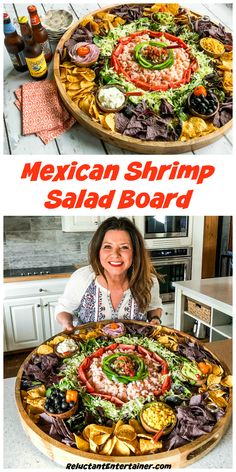 For a gathering or potluck, serve this Mexican Shrimp Salad Board. Let guests make their own shrimp salad for Cinco de Mayo or any Mexican-themed party! Mexican Shrimp Recipes, Mexican Appetizers, Appetizer Recipes, Salad Recipes, Mexican Food For Party, Seafood Appetizers, Charcuterie Recipes, Charcuterie And Cheese Board, Prawn Salad