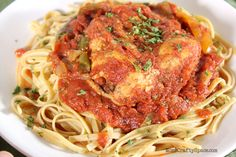 Easy Crockpot Chicken Cacciatore with Classico Crushed Tomatoes #CookClassico ~ Mom's Crafty Space