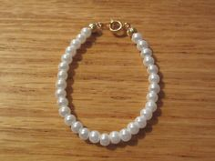 Newborn Bracelet Girl/Baby ShowerGirl/Toddler by roziespearls, $10.00