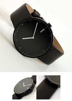 Alessi AL13003-X Out Time Watch in Black -Watchismo.com Modern Watches