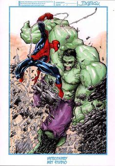 #Hulk #Fan #Art. (Spiderman vs Hulk) By: Babisu Kourtis. [THANK U 4 PINNING!!]