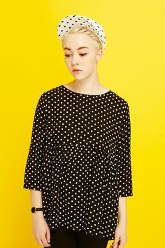 #Polka on #Polka is how we roll http://www.thewhitepepper.com/collections/tops/products/polka-smock-top-black #TWP
