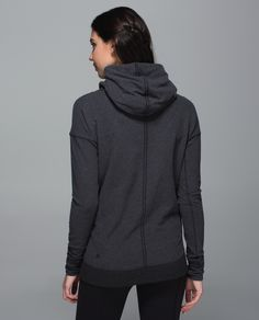 When we wear this hoodie we skip the scarf - the hood on this jacket is so big, it's practically a balaclava. We pull the drawstring close when we want to cut chills or cover our eyes in Savasana. #stresslesshoodie #lululemon