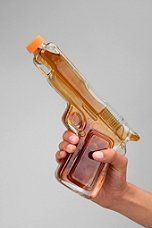 Glass Gun Decanter  brother or dad, or guy friend