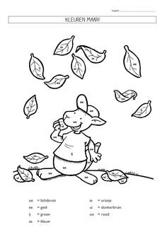 kleurplaat letters (herfst) Busy Bags, A Classroom, Autumn Theme, Spelling, Lesson Plans, Coloring Pages, Van, Teacher, How To Plan
