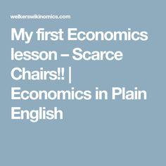 My first Economics lesson – Scarce Chairs!! | Economics in Plain English
