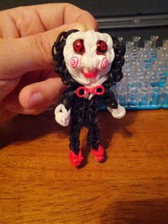 Rainbow Loom SAW DOLL. Designed and loomed by Yvonne Ambrose. Rainbow Loom Obsession FB page. 03/04/14