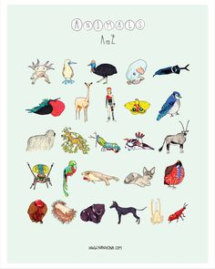 Bizarro Animals - A to Z by Nannona, via Behance, #weirdanimals, #kidsprints…