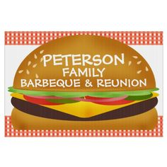 Shop Cheeseburger Family Barbeque Sign created by Personalize it with photos & text or purchase as is! Custom Yard Signs, Snack Recipes, Snacks, Chips, Food, Summer, Ideas, Snack Mix Recipes, Appetizer Recipes