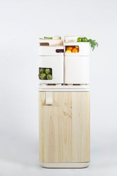 """OLTU By Fabio Molinas - specialized """"cooler"""" for your produce that uses the waste heat from your fridge"""