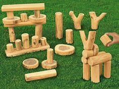 Love it! Lakeshore Learning nature blocks (WIN!)
