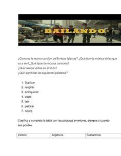 """""""Bailando"""" activities"""