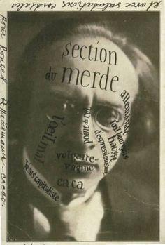 Raoul Hausmann, Carte postale à Theo Van Doesburg (postcard to Theo Van Doesburg), 1921, Rijksbureau voor Kunsthistorische Documentatie, La Haye.
