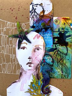 Visual journaling, mixed media art, and artsy scrapbooking. Doodle Art Journals, Art Journal Pages, Art Journaling, Art Journal Techniques, Drawing Techniques, Mixed Media Canvas, Mixed Media Art, Graffiti Girl, Mother Art