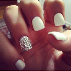 Love white nails - New Year's Eve look?