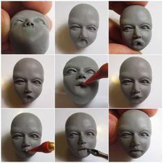 Урок лепки. Лицо из полимерной глины