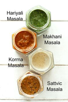4 Indian Curry Pastes