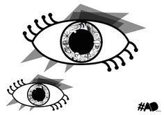 Watch out. #graphic #eye #b&w #blackandwhite